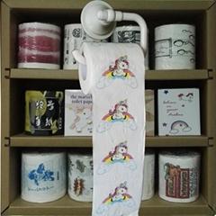 Unicorn printed toilet roll
