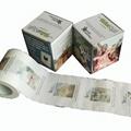 Natural houseprinted toilet roll