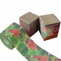 Flowers printed toilet paper