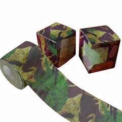 Camouflage printed bathroom tissue