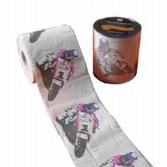 卡通摩托车印刷卫生纸
