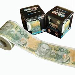 钱币印刷卫生纸