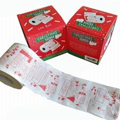 圣诞节彩色厕所纸