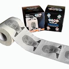 美国总统印制彩色厕所纸