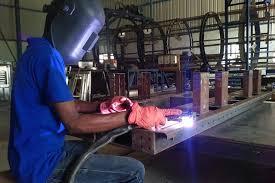 MS Steel Structure Fabrication Welding 5
