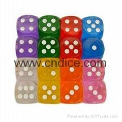 供应各种颜色透明骰子