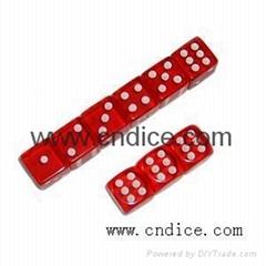 供应销售红色透明骰子