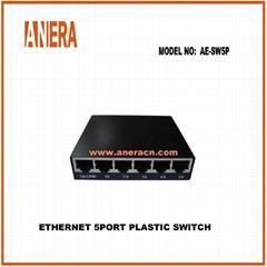 ETHERNET 5PORT PLASTIC SWITCH