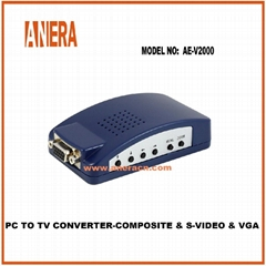 PC TO TV CONVERTER-COMPOSITE & S-VIDEO &