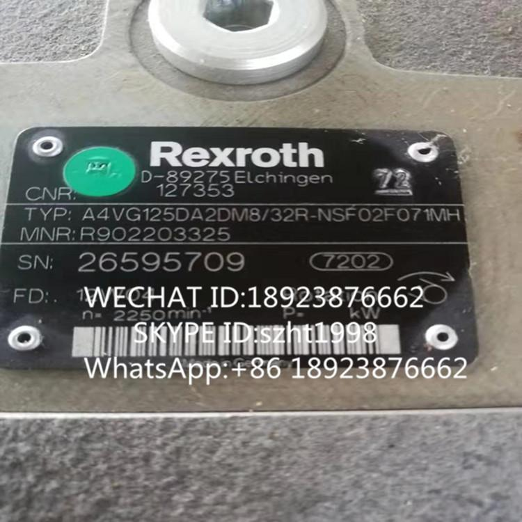 REXROTH 力士乐柱塞泵A4VG125DA2DM8/32R-NSF02F071MH 2