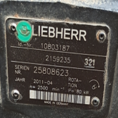 利勃海爾剷車556 馬達10803187 液壓泵2159235