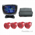 LCD Display 4 Parking Sensor Reverse Backup Radar