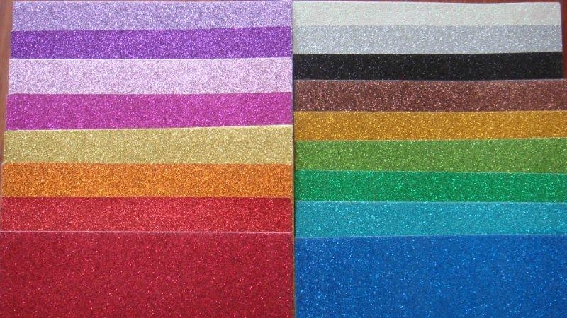 Color Glitter Paper For Craft Work And Wrapping Kt 003 Kt