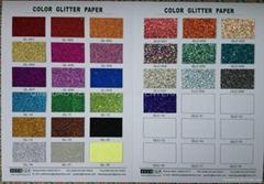 COLOR GLITTER PAPER