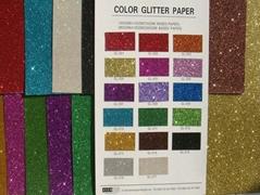 COLOR GLITTER PAPER FOR