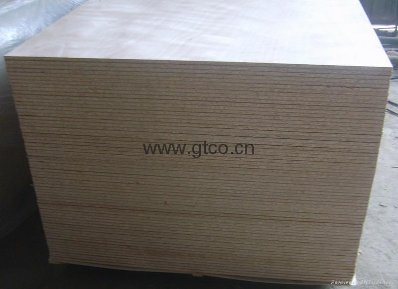 Construction Grade Particle Board ~ Okoume faced particle board gtpb gtco china