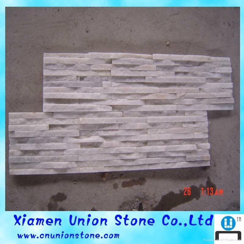 Nature Quartz Stone Wall Cladding White Slate Culture Stone 1