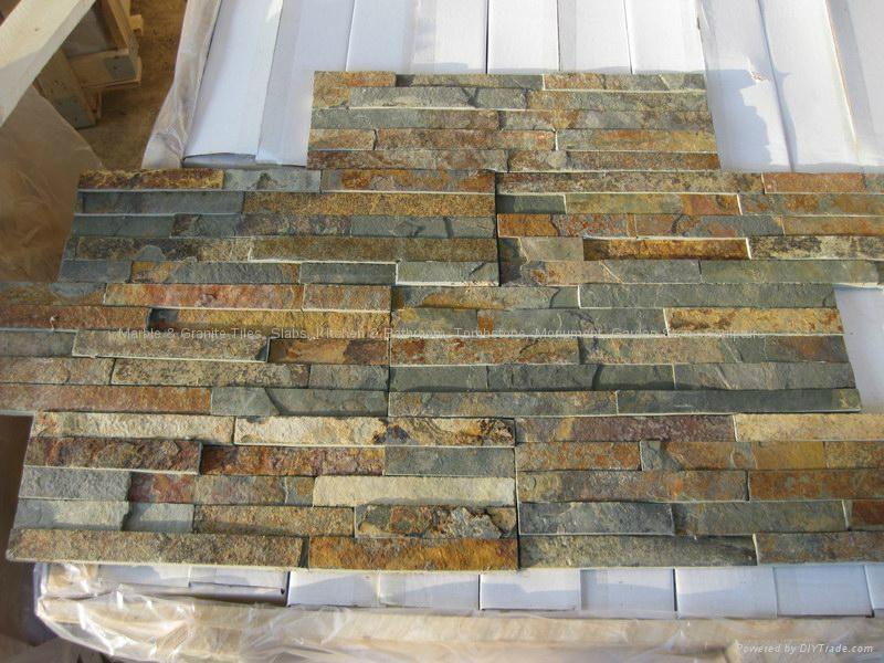 Nature Quartz Stone Wall Cladding White Slate Culture Stone 4