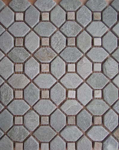 Mosaic tiles / Slate Mosaic / Mosaic medallions / Inlay 1