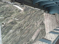 Empire green granite slab