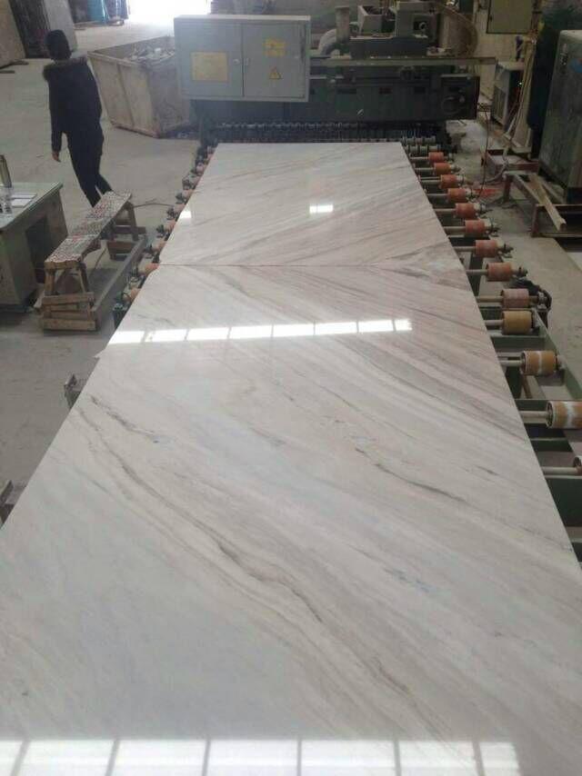 Italian Polished White Palissandro Marble Union Stone