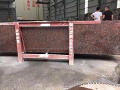 Indian red tan brown granite