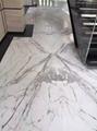 Small vein white statuario marble