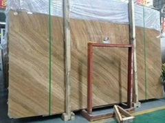 High polished yellow wooden marble