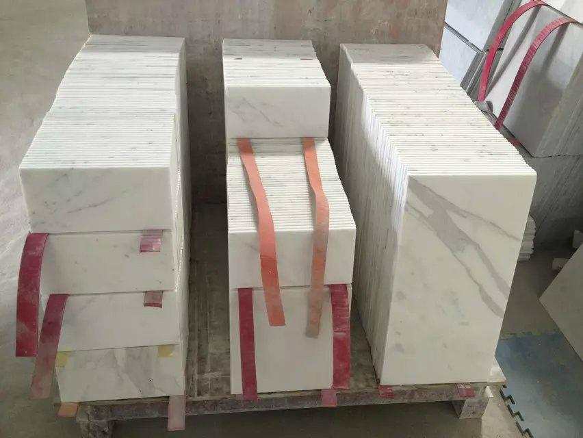 10mm thick calacatta marble floor tile 1