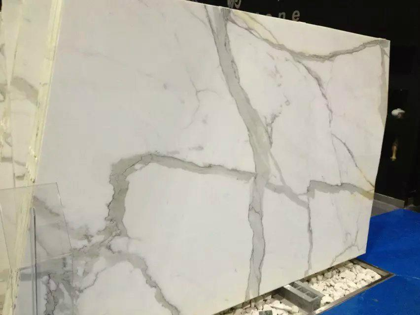 10mm thick calacatta marble floor tile 2