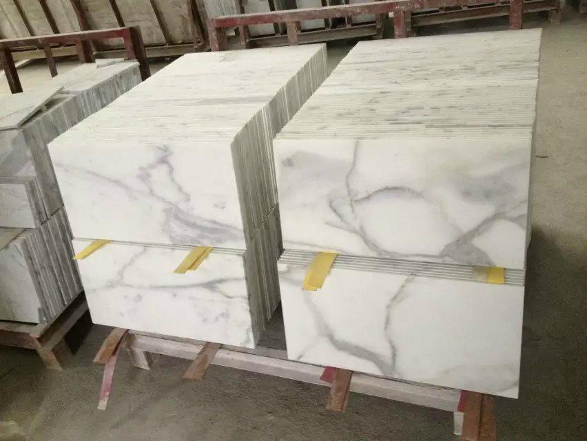 10mm thick calacatta marble floor tile 5
