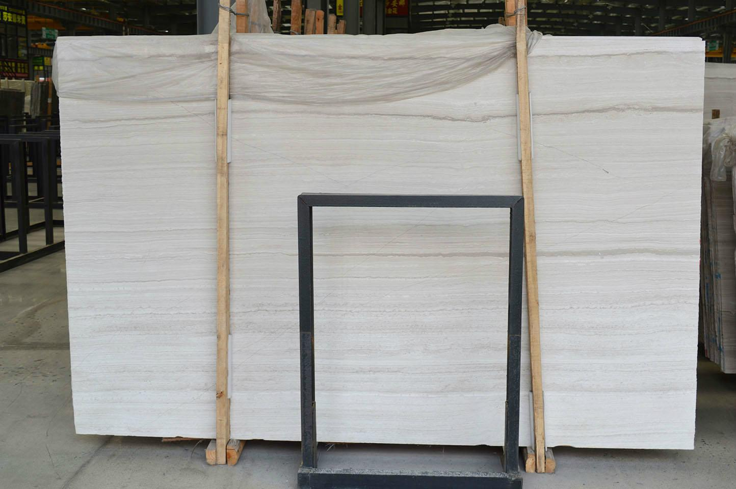 China Classical White Wooden Marble Union Stone China
