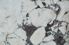Natural white purple marble