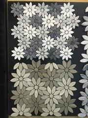 Flower marble mosaic til