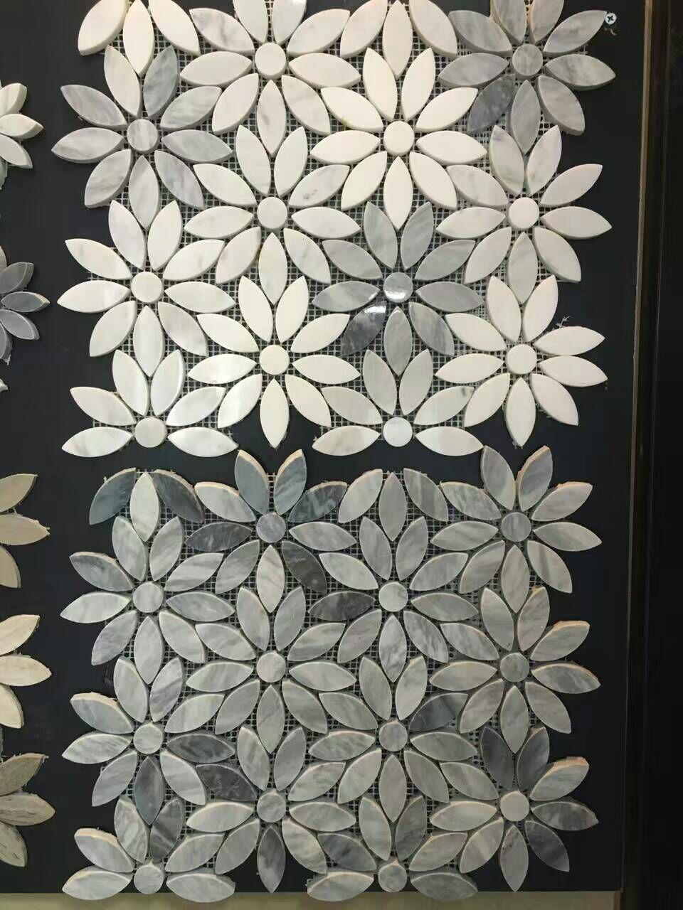 Flower Marble Mosaic Tile Union Stone China