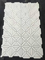 Pure white marble mosaic