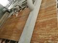 Raw golden travertine slab