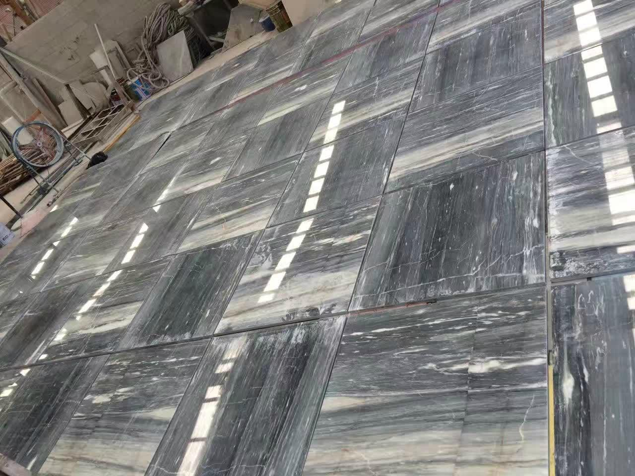 Grey blue galaxy marble floor tile 1