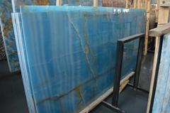 Luxury golden blue onyx slab