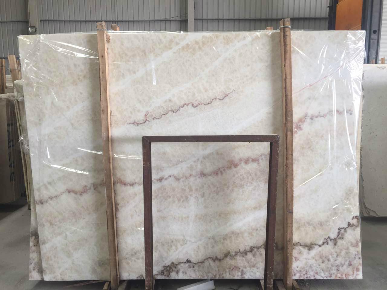Rainbow Onyx Marble : Rainbow white onyx wall panel slab union stone