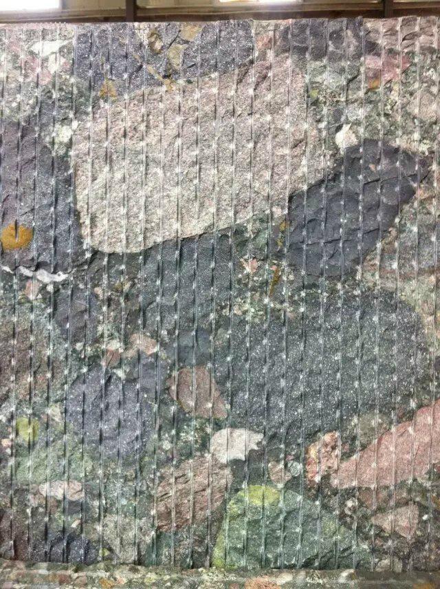 Nature rainbow pebble granite