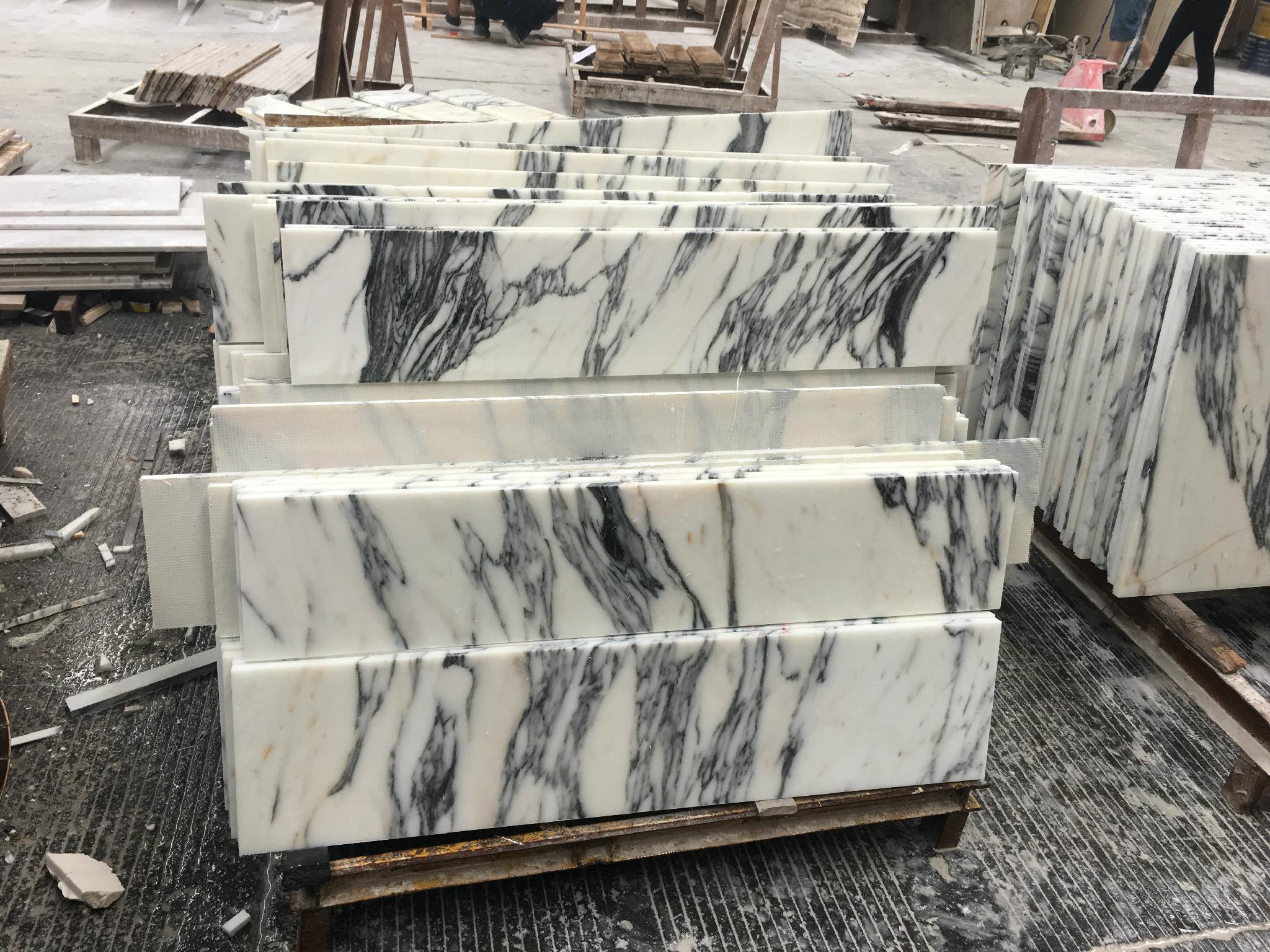 Cut to size arabescato marble tile 4