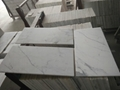 white calacatta 10mm thick marble tile 2