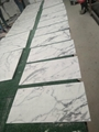 white calacatta 10mm thick marble tile 5