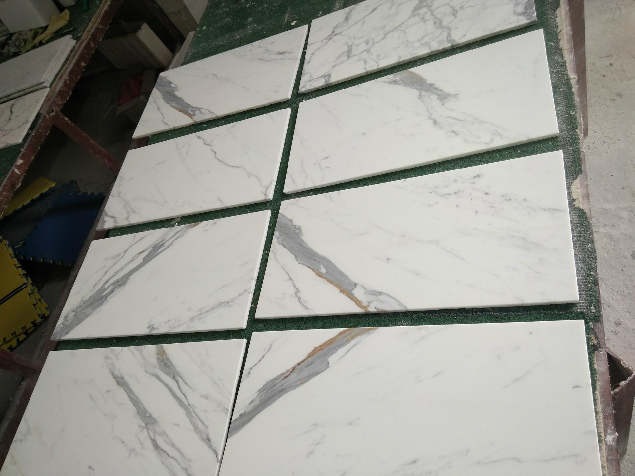 white calacatta 10mm thick marble tile 6