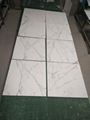 white calacatta 10mm thick marble tile