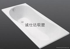 真空吸塑成型加工--浴缸外壳吸塑