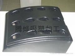 Large thick plate blister processing (golf club base