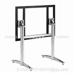 H363# 雙管不鏽鋼折疊台腳