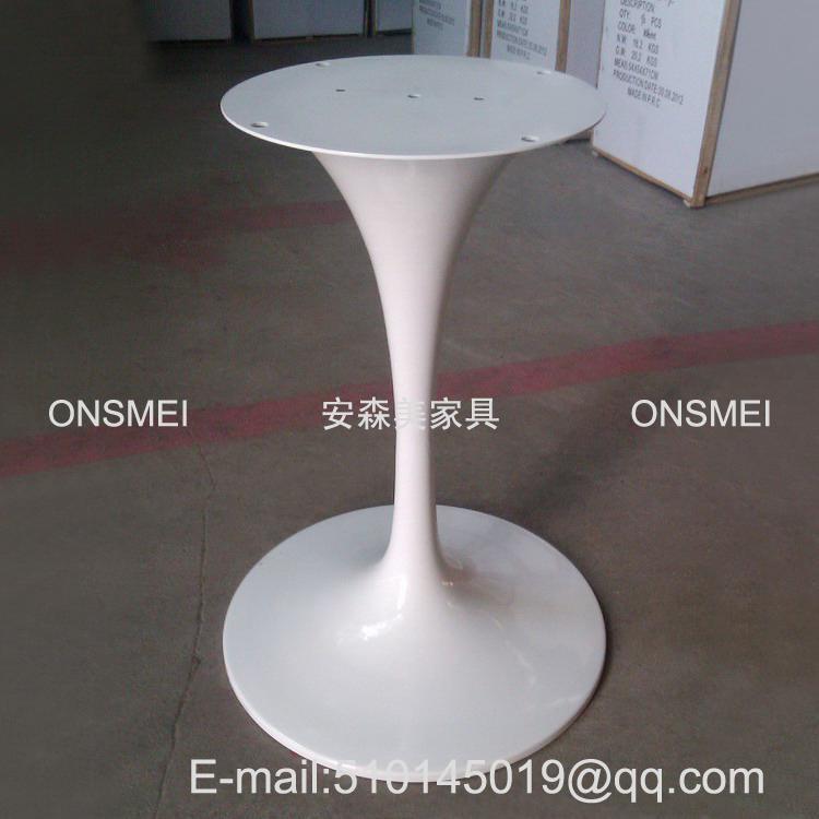 H018# 白色烤漆金屬桌腳 1
